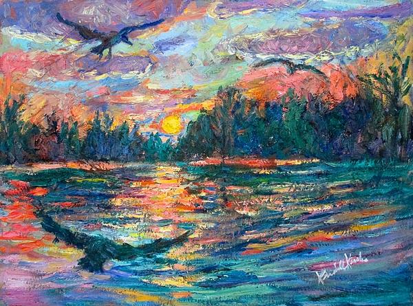 Landscape Painting - Evening Flight by Kendall Kessler