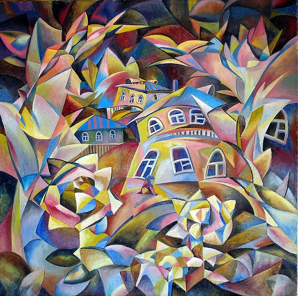 Houses Painting - Evening Fragrance by Andrey Soldatenko
