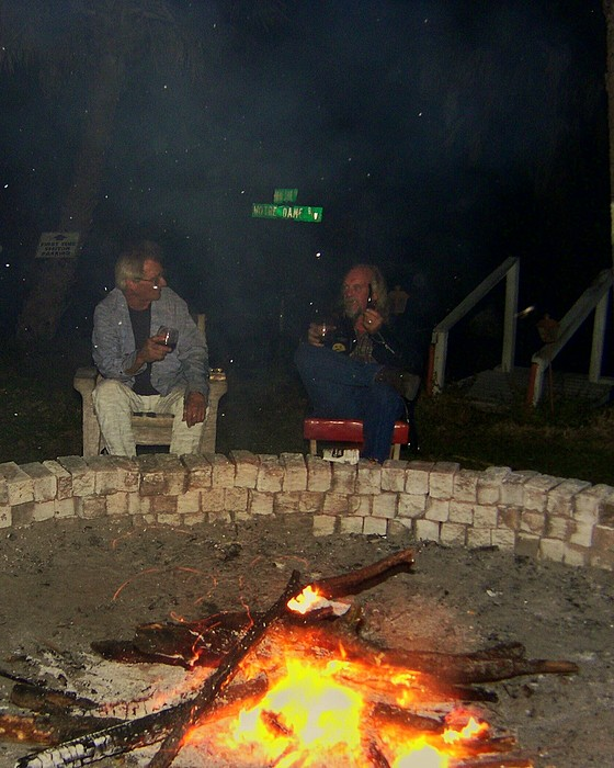 Fire Pit Photograph - evening in Florida by Charles Peck