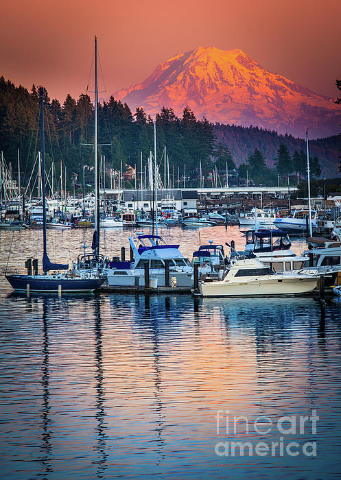 America Photograph - Evening In Gig Harbor by Inge Johnsson
