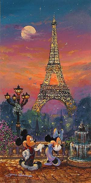 Disney Print - Evening In Paris by James Coleman