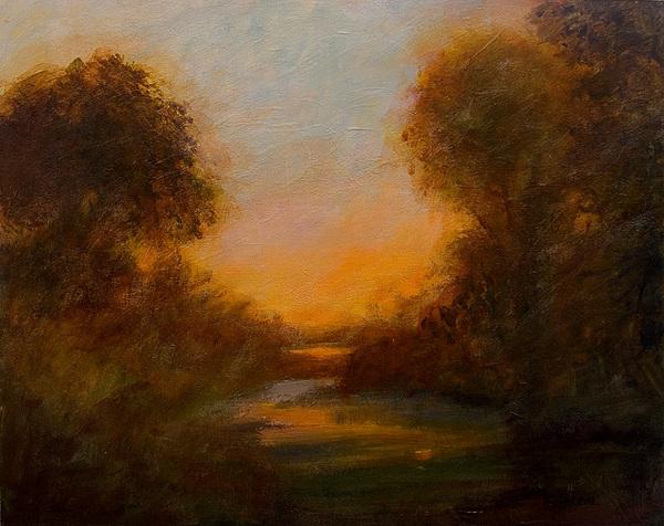Tonalist Painting - Evening Light by Jan Blencowe