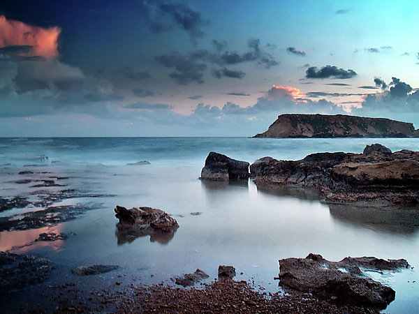 Cyprus Photograph - Evening Light On St. Georges Island by Amanda Finan