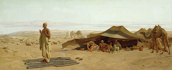 Evening Painting - Evening Prayer In The West by Frederick Goodall
