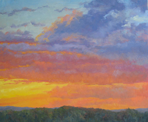 Landscape Painting - Evening Reverie by Bunny Oliver