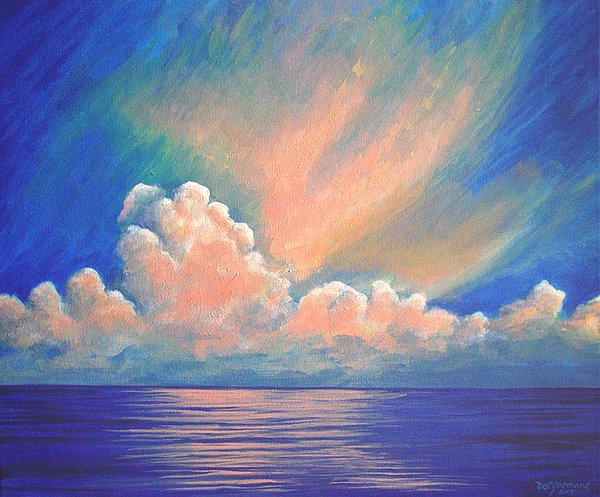 Florida Painting - Evening Sky by Dee Youmans-Miller