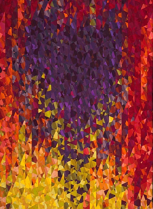 Abstract Tapestry - Textile - Event Horizon   by Joy Saville