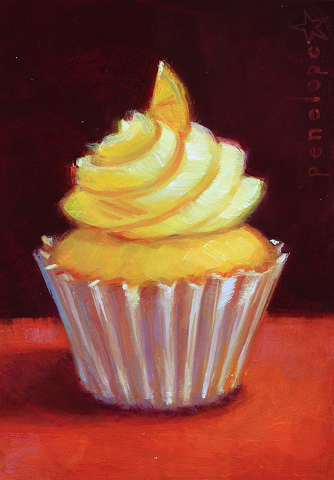 Cupcake Painting Painting - Ever After IIi by Penelope Moore