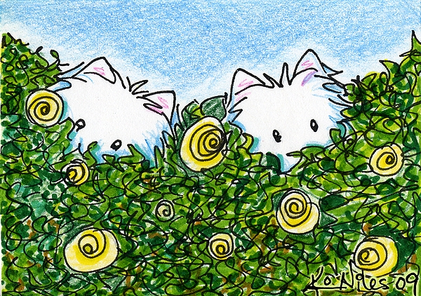 Dog Mixed Media - Everythings Coming Up Westies by Kim Niles