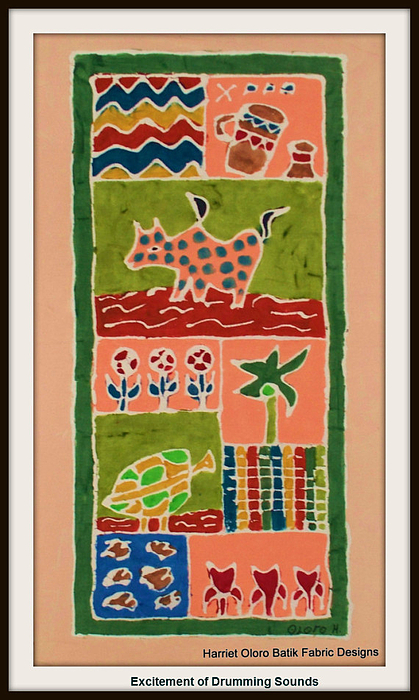 Decorative Tapestry - Textile - Excitement Of Drumming Sounds by  Harriet Oloro