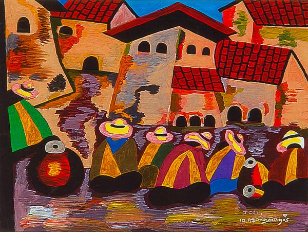 Native Painting - Exito II by Damaris Munoz Arias