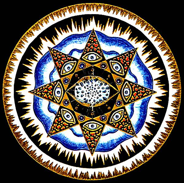 Mandala Painting - Expanding Consciousness by Pam Ellis