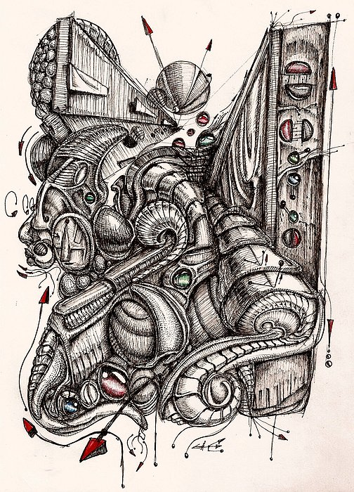 Expansion IIi Drawing by Gabriel Hernandez
