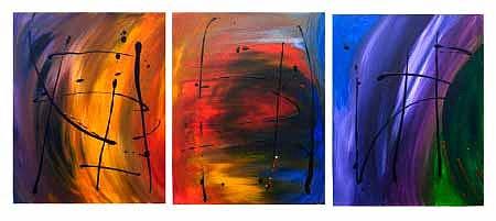 Abstract Painting - Exploration by Mary Jo Zorad