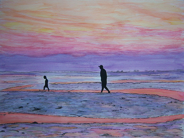 Twilight Painting - Exploring by Nancy Nuce