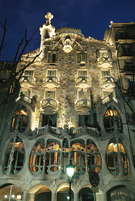 Europe Photograph - Exterior View Of An Antoni Gaudi by Richard Nowitz