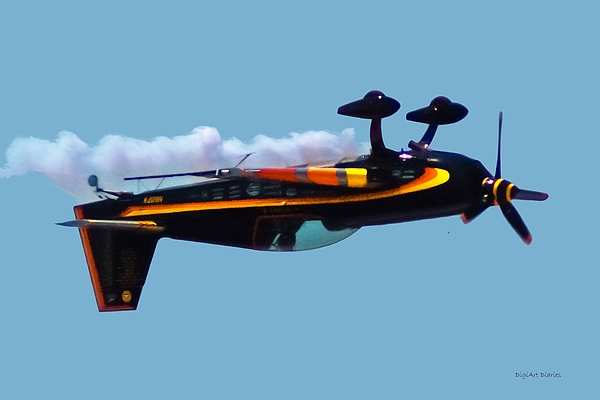300s Digital Art - Extra 300s Stunt Plane by DigiArt Diaries by Vicky B Fuller