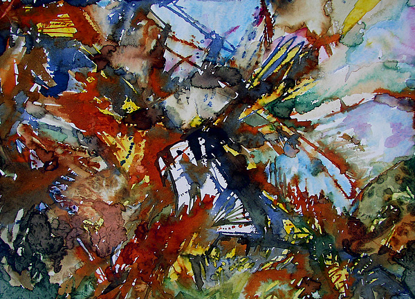 Abstract Painting Painting - Exxon Impact II by Laurie Salmela
