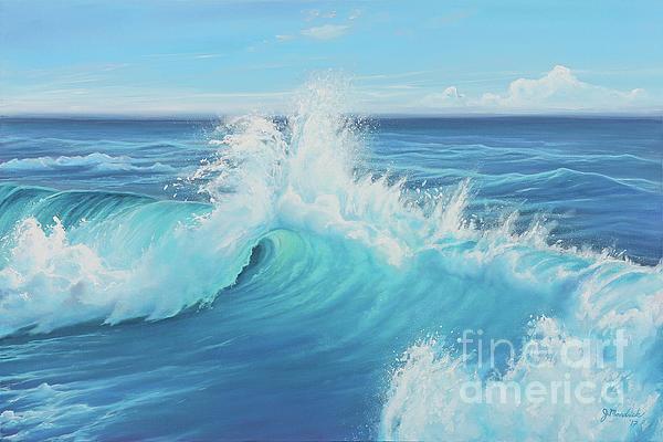 Seascape Painting - Eye Of The Ocean by Joe Mandrick