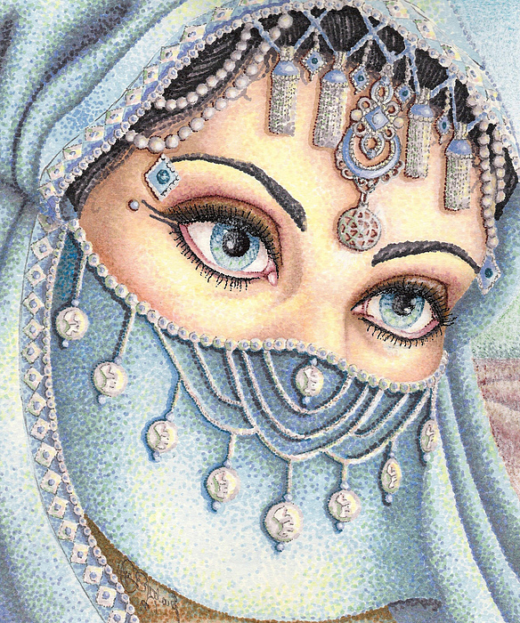 Eyes Drawing - Eyes Like Water by Scarlett Royal