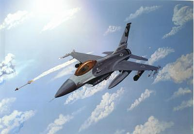 F16 Painting - F-16 by Frank Rosalez Jr