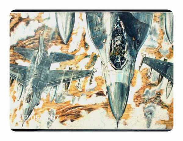 Aiplane Drawing - F-16s From The Tanker by James Beal