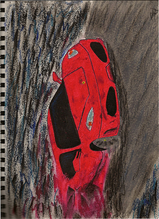 F430 Blur Painting by Ricky Kissoon