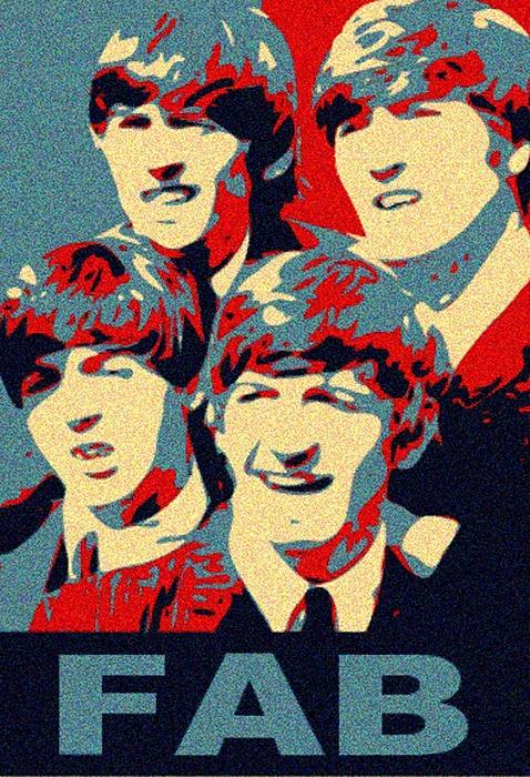 The Beatles Mixed Media - Fab Four by Paul Van Scott