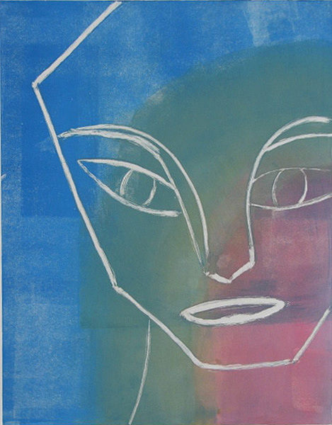 Portrait Painting - Face Angles by Libby  Cagle