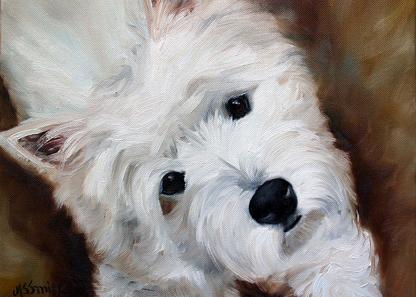 Westie Painting - Face Of Endearment by Mary Sparrow