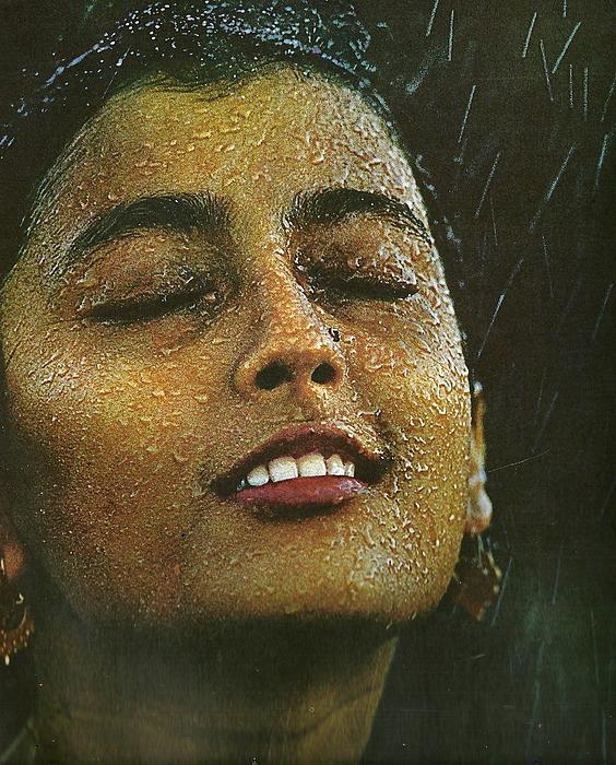 Not For Sale Photograph - Face The Rain Apama Sen by Anne-Elizabeth Whiteway