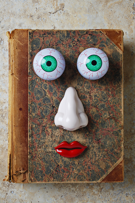 Facebook Photograph - Facebook Old Book With Face by Garry Gay