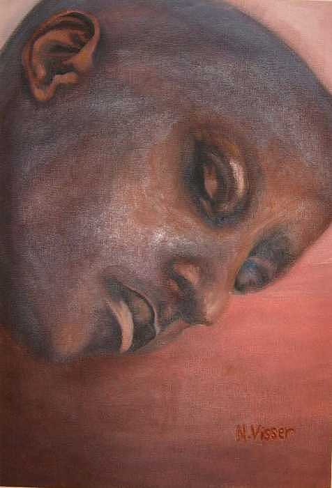 Face Of Africa Painting - Faces Of Africa 1 by Nellie Visser