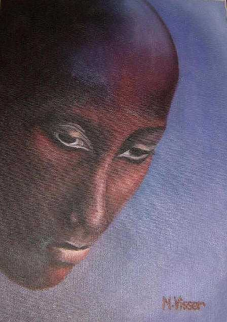 Face Of Africa Painting - Faces Of Africa 2 by Nellie Visser
