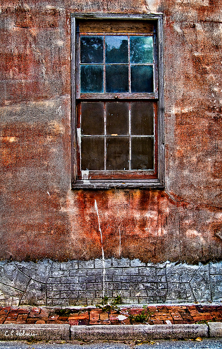 Window Photograph - Faded Over Time by Christopher Holmes