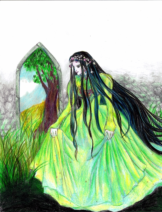 Faerie Drawing - Faerie Queen by Rebecca Tripp