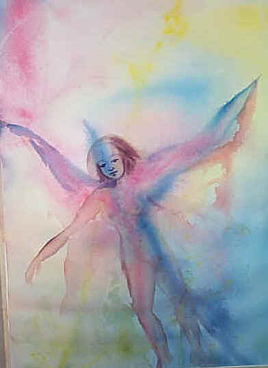Fairy Painting - Faiery  by Robin Feldman