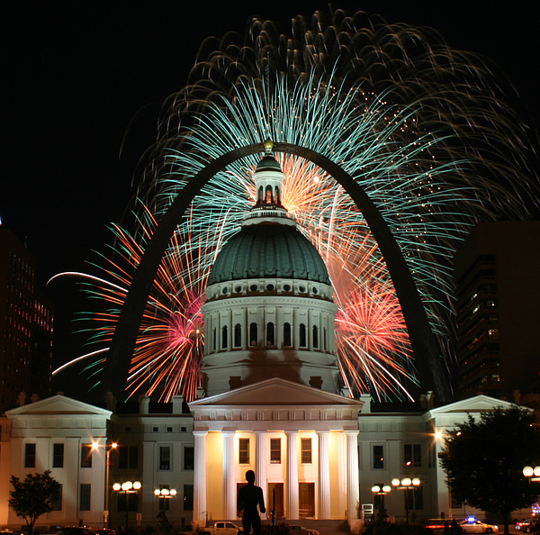 High Quality Photograph - Fair St Louis Fireworks by William Shermer