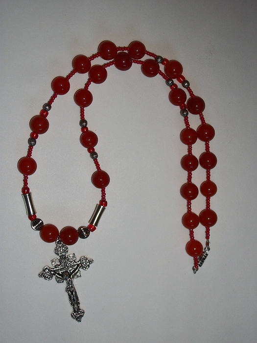 Red Jewelry - Faith 3 by Leeah Borner