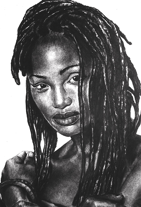 Curtis E. James Drawing - Faith by Curtis James