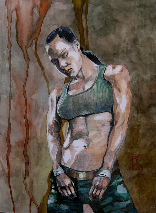Watercolour Painting - Faith by Ray Agius