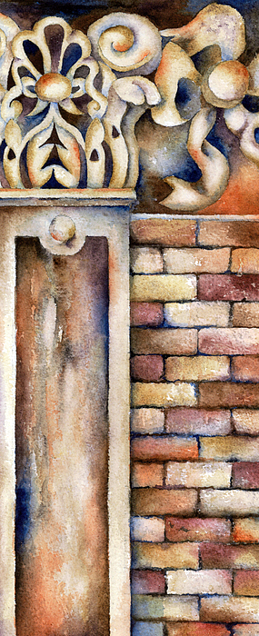 Bricks Painting - Faithful by Winona Steunenberg