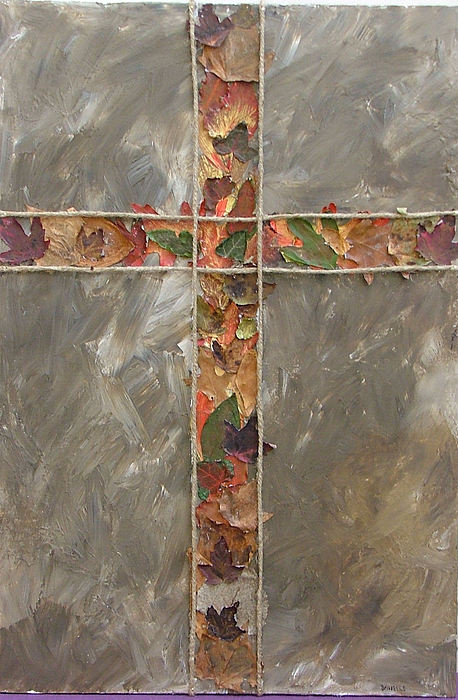 Cross Painting - Fall Cross by Donielle Boal