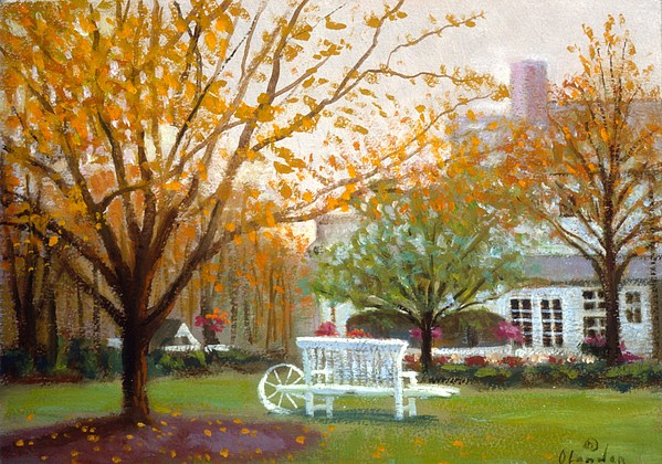 Landscape Painting - Fall In Nj by David Olander