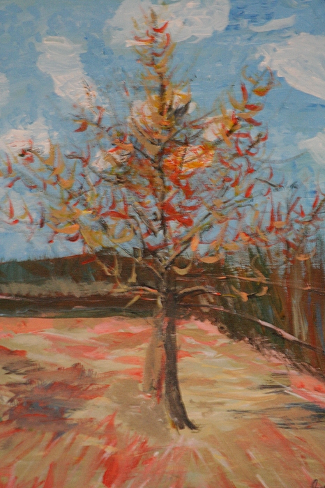 Landscape Painting - Fall Leaves by Jordan  Davis