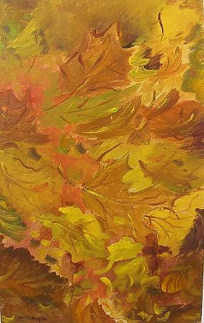 Fall Painting by Miroslaw  Chelchowski