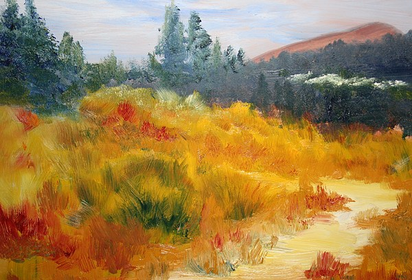 Fall Mountain Meadow Painting By Julie Lueders