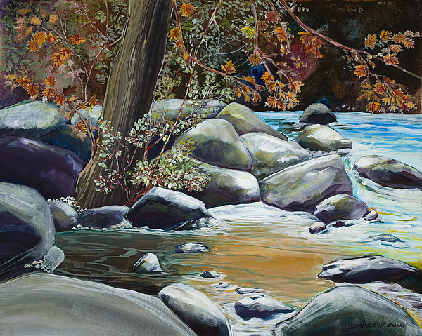 Fine Painting - Fall Reflections by Sharole Ewing
