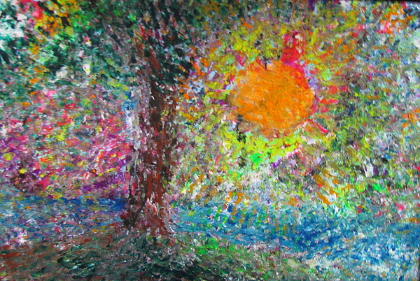 Playful Painting - Fall Sun by Jacqueline Athmann