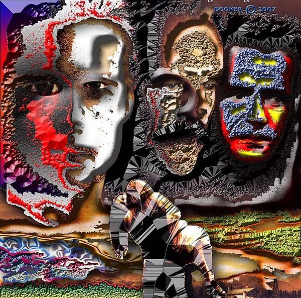 Jazz Mixed Media - Fallen Legends by Booker Williams